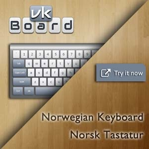 Virtual Norwegian Keyboard (Norsk Tastatur)