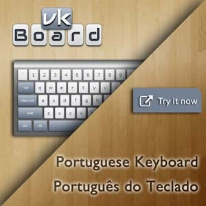 Virtual Portuguese Keyboard (Português do Teclado)